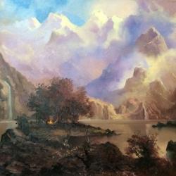 Озеро в горах, (вольная копия)